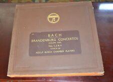 Bach Branderburg Concertos 78 S RECORDS BOX SET columia