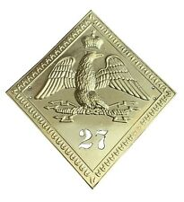 More details for regiment 27 french 1806 pattern diamond shako plate