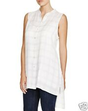 NWT $278 Eileen Fisher Plus Plaid Sleeveless Tunic Natural/Charcoal Size 3X