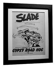 SLADE+Gypsy Road Hog+POSTER+AD+FRAMED+RARE ORIGINAL 1977+EXPRESS GLOBAL SHIP