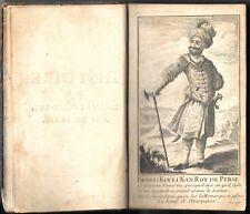 "1743 "" HISTOIRE de THAMAS KOULI-KAN ROI DE PERSE "" stamp. Briasson con INCISIONE"
