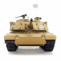 2.4Ghz Radio RC 1/16 US M1A2 Abrams Airsoft Battle Tank w/Smoke & Sound RTR