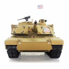 2.4Ghz Radio RC 1/16 US M1A2 Abrams Airsoft Battle Tank w/Smoke & Sound RTR