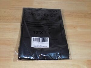 "Tang Depot Luxury Solid Velvet Pillow Case Sham 12"" x 18"" Black 2 Pack"