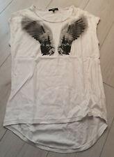 Tigha Damen T-Shirt mit Print Weiß  Größe S
