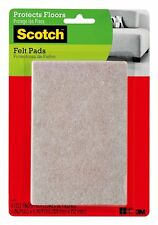 New listing Scotch Felt Pads, Rectangle, Beige, 4 in. x 6 in., 4 Pads/Pack (Sp840-Na)