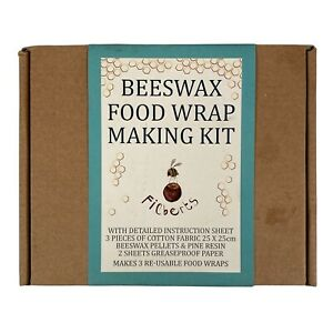 Beeswax Food Wrap Making Kit by Filberts of Dorset Makes 3 Reusable Food Covers