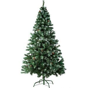 Sapin de Noël Arbre de Noel Artificiel + Pied En Métal Plastique Fête 180cm vert
