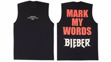Brand New Justin Bieber Purpose Tour Merchandise Mark My Words Muscle Tank Small