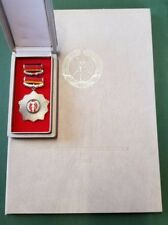 DDR Medaille Orden & Urkunde - Vaterländischer Verdienstorden in Silber - 1984