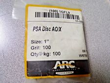 "(100pk) ARC ABRASIVES 1"" Coated PSA Sanding Disc, 100 Grit (K)"