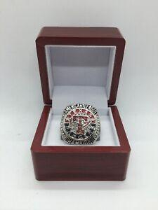 2011 Texas Rangers World Series Championship Ring Set with Display Box SILVER