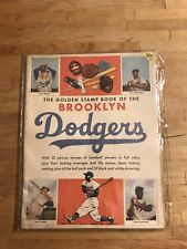RARE 1955 Brooklyn Dodgers Stamp Book WITH ALL STAMPS INTACT