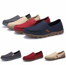 Summer Mens Canvas Slip On Loafers Boat Casual Sports Breathable Outdoors Shoes