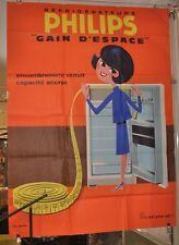 "Original altes Vintage Plakat von Philips ""Gain D´Espace"" 50er Jahre"