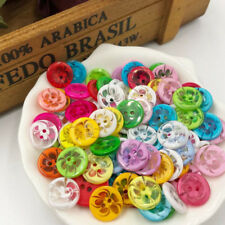 100pcs 13mm Mini 2Holes Plastic Buttons For Kid's/Baby Sewing Crafts PT95