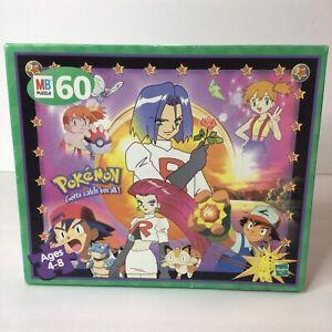 Vintage Pokemon Team Rocket Puzzle Milton Bradley 60 Pc Ash Misty NEW