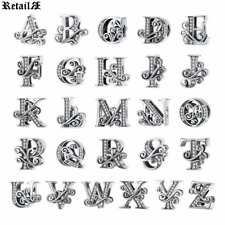 925 Sterling Silver Beads 26 Letter Charms Suit Pandora Snake Bracelets New 2020