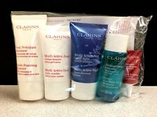 Clarins Paris 5 pc. Skin Care Travel Gift Set- GENUINE! FACTORY WRAPPED!