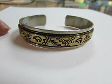 12k Gold Filled Sterling Silver Native American bracelet RB (Robert Becenti)