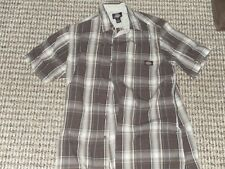 Mens Dickies Button Shirt Size Large