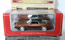 PONTIAC GRAND AM 2 DOOR COUPE 1973 METAL BROWN NEO 44758 1/43 BLACK ROOF MARRON
