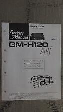 Pioneer gm-h120 Service Manual Original Reparatur Buch Stereo Amp Verstärker