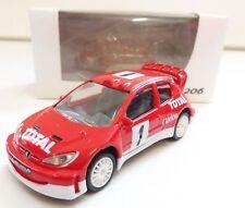 """Peugeot 206 Rally """"Totale"""" 1/64 """"3 Inche"""" Diecast NOREV prodotto nuovo"""