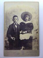 Large Victorian Cabinet Card Photograph Photo - Tibbenham - Ipswich - Children