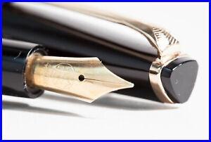 Triangular Reform Fountain Pen w FINE 14K 585 GOLD NIB 1970's Piston Filler