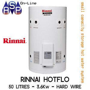 Rinnai Hotflo Electric Hot Water 50L 2.4kW Single Element (Plug in)