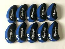10PCS Golf Iron Covers for Cleveland Club Headcovers Blue Gray 4-LW RH Universal