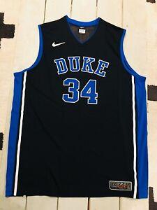 NEW Mens NIKE - DUKE Elite Basketball Shirt Jersey #34 2XL