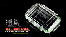 New SolarForce Waterproof Battery Case Box ( 18650 / 26650 / 16340 / CR123A )