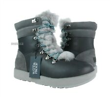 UGG Viki Waterproof Metal Leather Fur Boots Womens Size 8 *NIB*