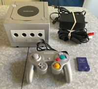 Nintendo GameCube Platinum DOL-101 Console Silver Clean TESTED Lot Fast Ship!