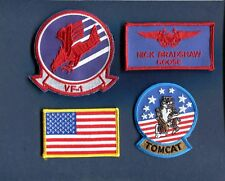 NICK GOOSE BRADSHAW TOP GUN MOVIE COSTUME US NAVY F-14 TOMCAT Squadron Patch set