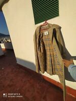 burberry biege women cotton trench coat made in spain size 40