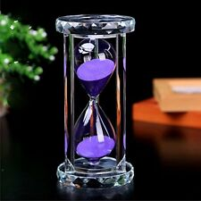 30 Minutes Hourglass, SZAT Sand Timer Romantic Crystal Sandy Clock with Purple