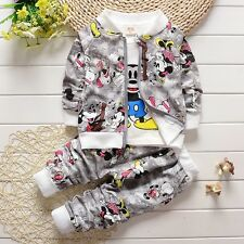 New!Boys 3 pcs MICKEY clothing set outfit tracksuit 3-4 years GREY