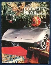 Prospekt brochure Corvette News December / January 1976 (USA)