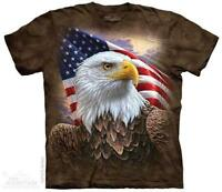 American Flag Bald Eagle Bird T Shirt The Mountain Independence Eagle Tee S-5XL