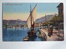 SALO' LAGO di GARDA barca vela animata Brescia vecchia cartolina 30967