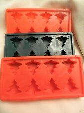 SET OF 3 VINTAGE MADE IN HONG KONG ICE TREE PLASTIC ICE CUBE TRAYS - EUC