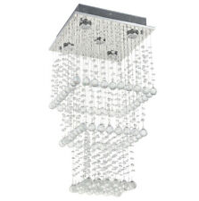 Cascading Genuine Clear Crystal Droplet Ceiling Light Chandeliers Light