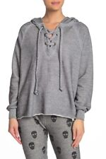 Wildfox Womens WHB041000 Hoodie Relaxed HTHR Grey Size XS