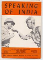 Speaking Of India American Council Institute Of Pacific Relations 1943