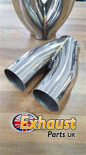 "Ideal Tail pipe Twin Exhaust Y Joiner Custom 2 into 1 57mm 2.25"" Collector TIG"