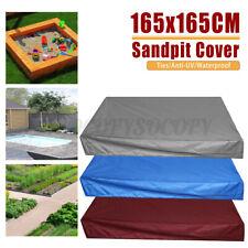 "65x65"" Squar Sandbox Cover Weatherproof Tarpaulin Portable Children Bunker Toy"