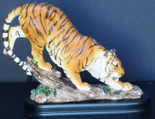 "PROWLER   Orange Tiger on Rocks     Figure Statue   H6.5'' x W8"""